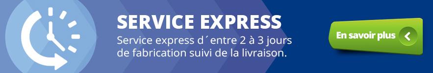 Service express d´entre 2 à 3 jours