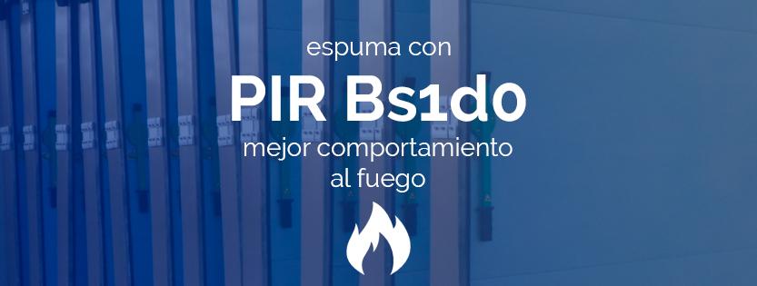 Espuma con PIR Bs1do