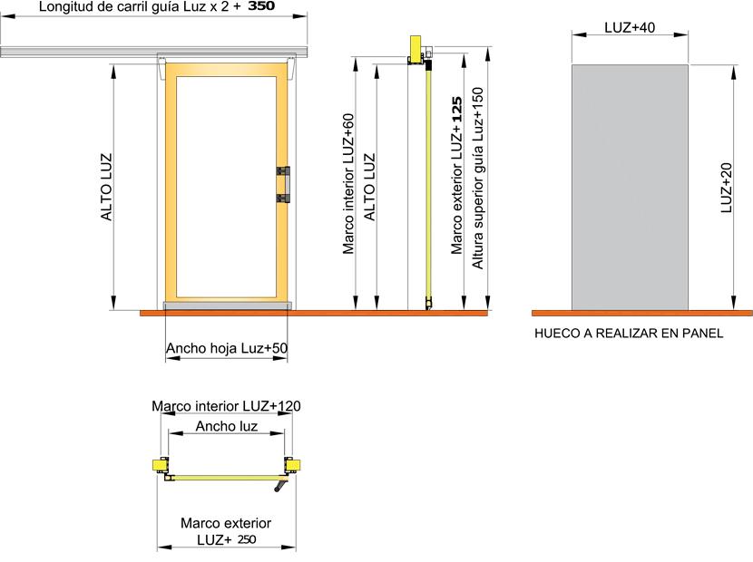 Puerta frigorífica corredera DC3   Servicio