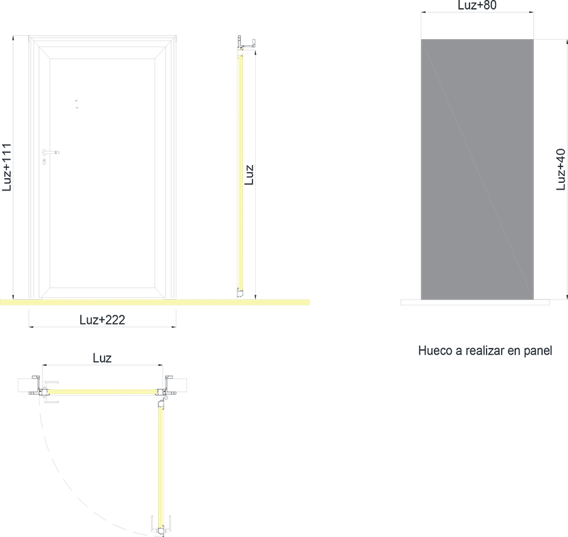 Puerta pivotante Modelo DS1 - 1 Hoja
